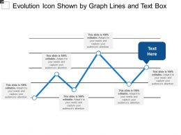 Evolution Icon Shown By Graph Lines And Text Box