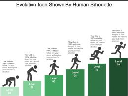 Evolution Icon Shown By Human Silhouette
