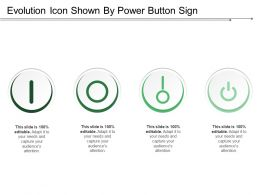 Evolution Icon Shown By Power Button Sign