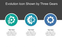 Evolution Icon Shown By Three Gears