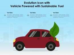 Evolution Icon With Vehicle Powered With Sustainable Fuel