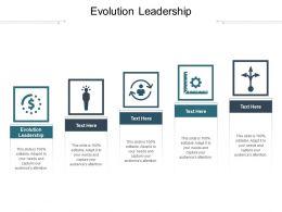 Evolution Leadership Ppt Powerpoint Presentation File Visuals Cpb
