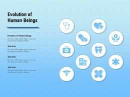 Evolution Of Human Beings Ppt Powerpoint Presentation Ideas Grid