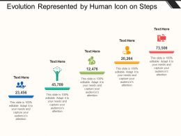 Evolution Represented By Human Icon On Steps