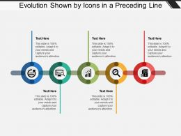 Evolution Shown By Icons In A Preceding Line