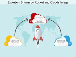 Evolution Shown By Rocket And Clouds Image