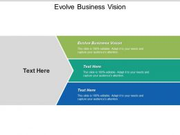 Evolve Business Vision Ppt Powerpoint Presentation Infographic Template Rules Cpb