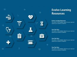 Evolve Learning Resources Ppt Powerpoint Presentation Slides