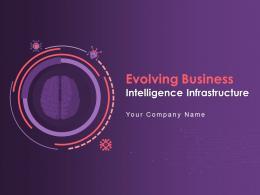 Evolving Business Intelligence Infrastructure Powerpoint Presentation Slides