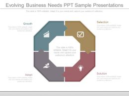 Evolving Business Needs Ppt Sample Presentations