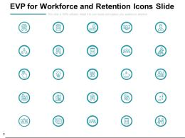 Evp For Workforce And Retention Icons Slide Growth Startegy Ppt Powerpoint Slides