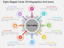 Ew Eight Staged Circle Of Infographics And Icons Flat Powerpoint Design
