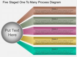 ew Five Staged One To Many Process Diagram Powerpoint Template