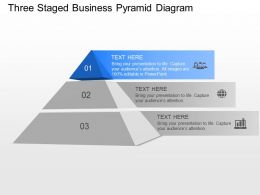 ew Three Staged Business Pyramid Diagram Powerpoint Template