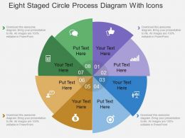 Ex Eight Staged Circle Process Diagram With Icons Flat Powerpoint Design
