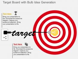 Ex Target Board With Bulb Idea Generation Flat Powerpoint Design