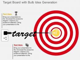 ex_target_board_with_bulb_idea_generation_flat_powerpoint_design_Slide01