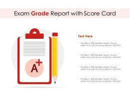 Exam Grade Report With Score Card