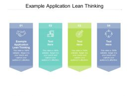 Example Application Lean Thinking Ppt Powerpoint Presentation Files Cpb