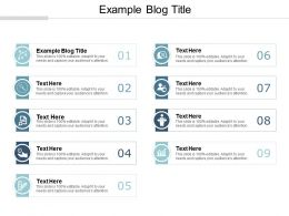 Example Blog Title Ppt Powerpoint Presentation File Skills Cpb