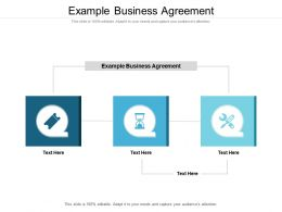 Example Business Agreement Ppt Powerpoint Presentationmodel Brochure Cpb