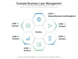 Example Business Lean Management Ppt Powerpoint Presentation Professional Vector Cpb