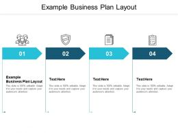 Example Business Plan Layout Ppt Powerpoint Presentation Guidelines Cpb