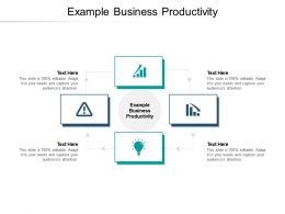 Example Business Productivity Ppt Powerpoint Presentation Smartart Cpb