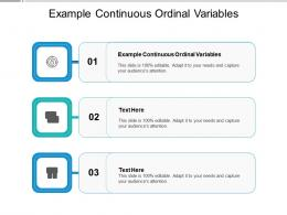 Example Continuous Ordinal Variables Ppt Powerpoint Presentation Show Example Cpb