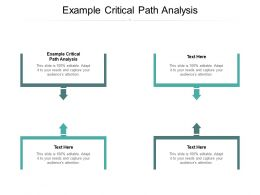 Example Critical Path Analysis Ppt Powerpoint Presentation Icon Example File Cpb