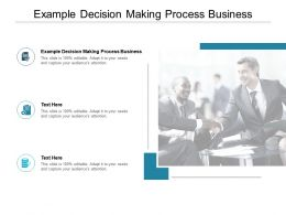 Example Decision Making Process Business Ppt Powerpoint Presentation Microsoft Cpb