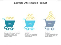 Example Differentiated Product Ppt Powerpoint Presentation Icon Demonstration Cpb