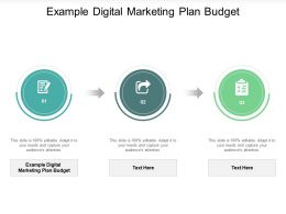 Example Digital Marketing Plan Budget Ppt Powerpoint Presentation Pictures File Formats Cpb