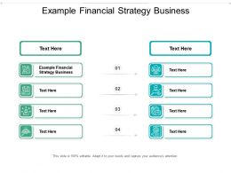 Example Financial Strategy Business Ppt Powerpoint Presentation Inspiration Ideas Cpb