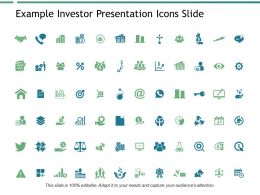 Example Investor Presentation Icons Slide Goal Powerpoint Presentation Slides