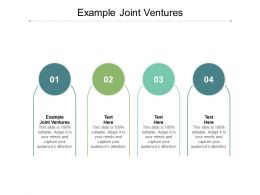 Example Joint Ventures Ppt Powerpoint Presentation Styles Infographic Template Cpb