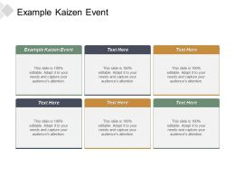 Example Kaizen Event Ppt Powerpoint Presentation Inspiration Infographics Cpb