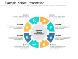 Example Kaizen Presentation Ppt Powerpoint Presentation Professional Slide Download Cpb