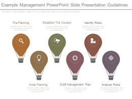 Example Management Powerpoint Slide Presentation Guidelines