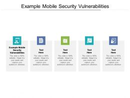 Example Mobile Security Vulnerabilities Ppt Powerpoint Presentation Portfolio Infographic Template Cpb