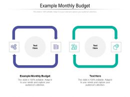 Example Monthly Budget Ppt Powerpoint Presentation Ideas Guide Cpb