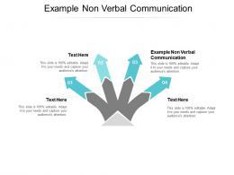 Example Non Verbal Communication Ppt Powerpoint Presentation Portfolio Skills Cpb