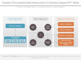 Example Of Accessible Data Infrastructure For Business Diagram Ppt Slides