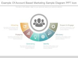 Example Of Account Based Marketing Sample Diagram Ppt Icon