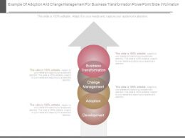 Example Of Adoption And Change Management For Business Transformation Powerpoint Slide Information
