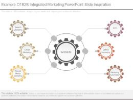 Example Of B2b Integrated Marketing Powerpoint Slide Inspiration