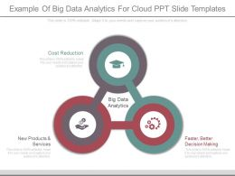 Example Of Big Data Analytics For Cloud Ppt Slide Templates