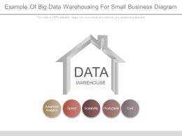 Example Of Big Data Warehousing For Small Business Diagram