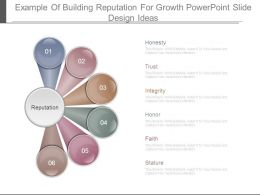 Example Of Building Reputation For Growth Powerpoint Slide Design Ideas