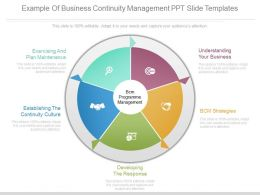 Example Of Business Continuity Management Ppt Slide Templates